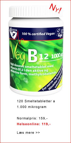 B12-vitamin, vegansk, smeltetablet