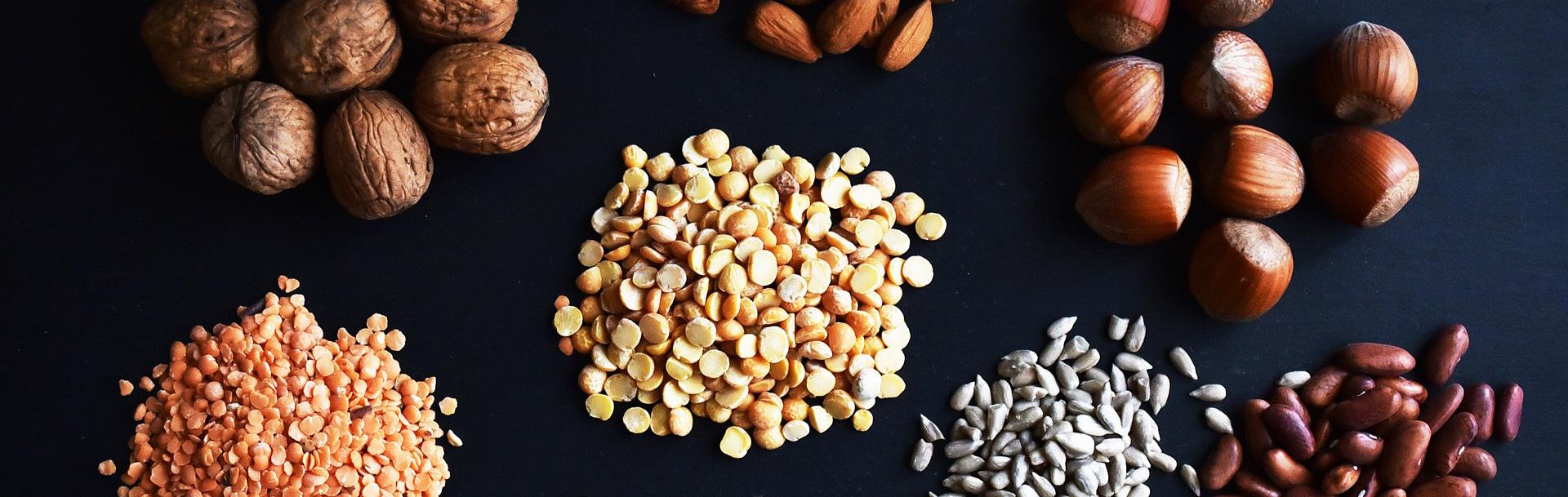 Fytin i bælgfrugter, kornprodukter og nødder